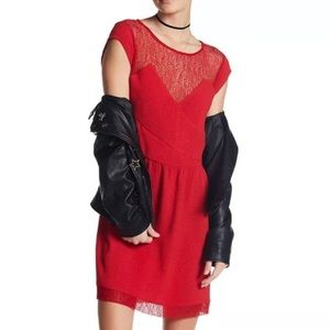 The Kooples Red Lace Dress